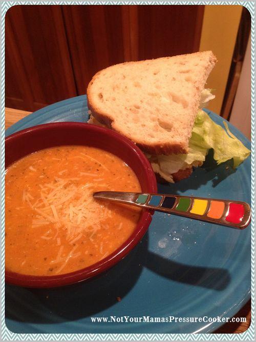 Pressure cooker tomato soup 2
