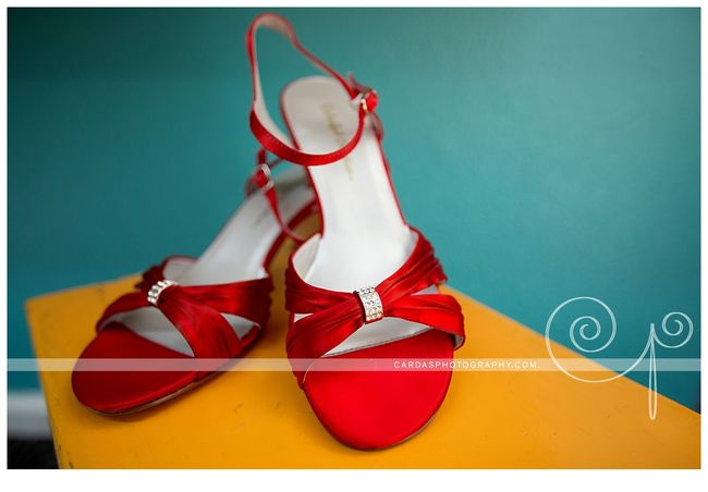 Coos Bay Oregon Red wedding shoes