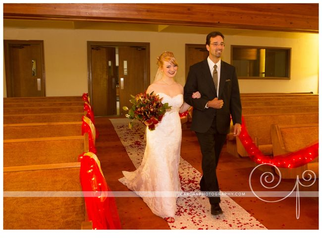 Coos Bay Oregon Red and Gold wedding 014
