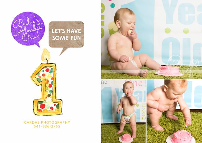 1st birthday cake smash photo shoot cardas bandon oregon