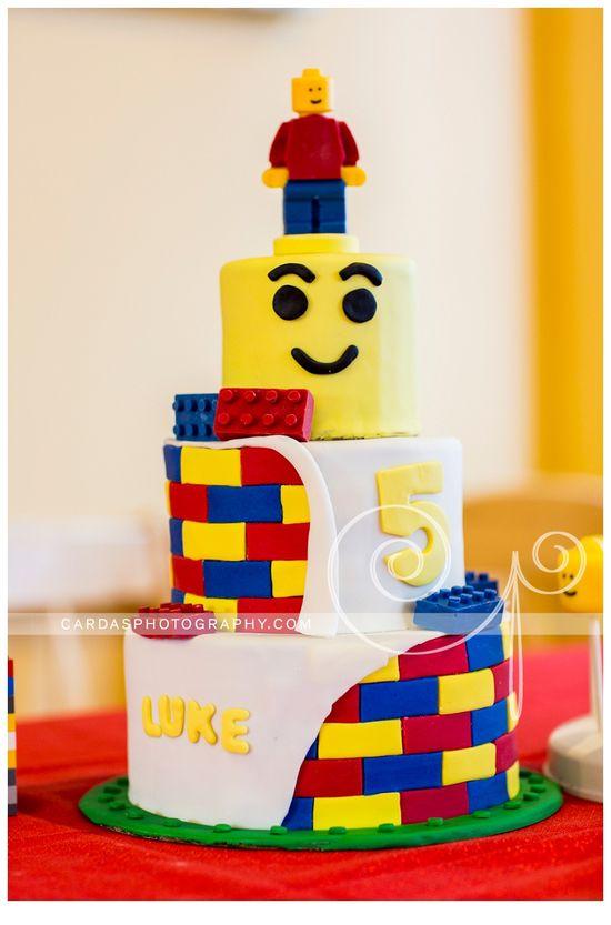 Lego 5th Birthday party cake (1)