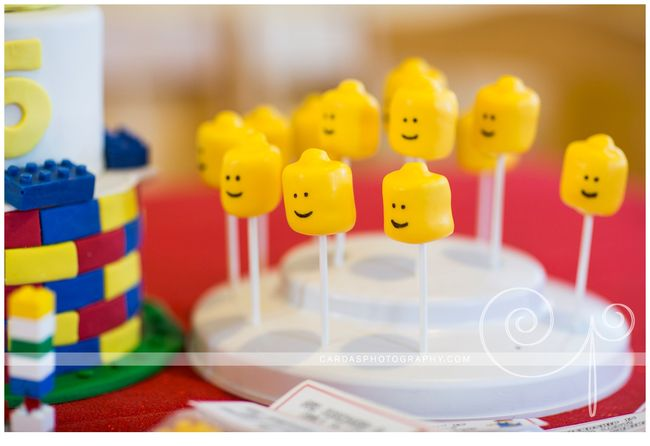 Lego 5th Birthday party cake (2)