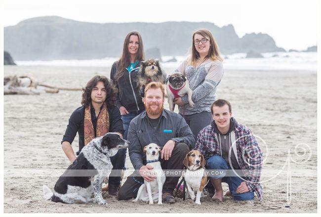 Bandon beach dog photo 000