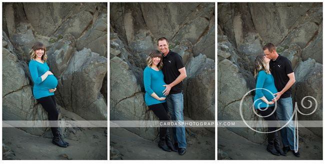 Courtney Oregon Beach Maternity Photos (7)