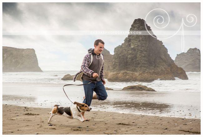 Bandon beach dog photo 001